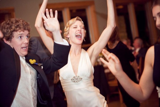 "But he still can't beat me in sheer enthusiasm for the classic wedding reception song, ""Shout!"""