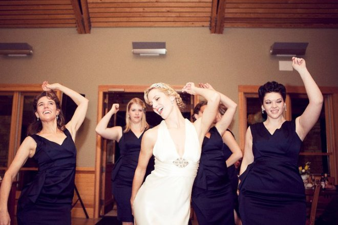 "This was one of my favorite moments all night. My girls and I broke out into a COMPLETELY UNPLANNED synchronized dance to ""Ain't No Mountain High Enough."" I think I was channeling an old Sweatin' to the Oldies video cassette."